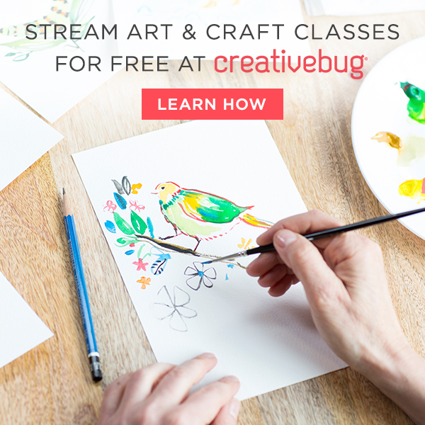 stream art and craft classes for free with CreativeBug