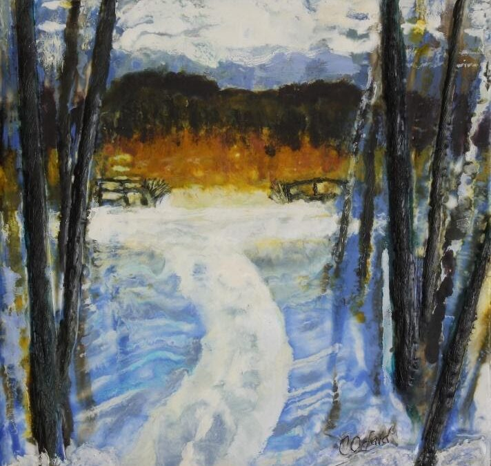 Encaustic Paintings at the Library