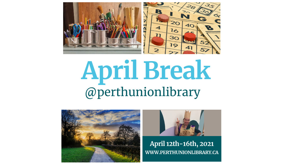 We've got fun things planned for April school break!