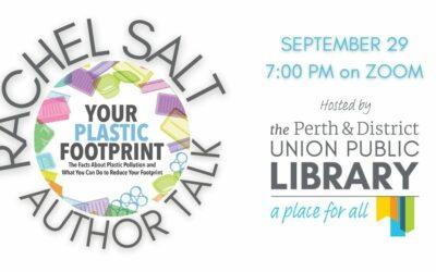 """Your Plastic Footprint"" – Upcoming Author Talk with Rachel Salt"
